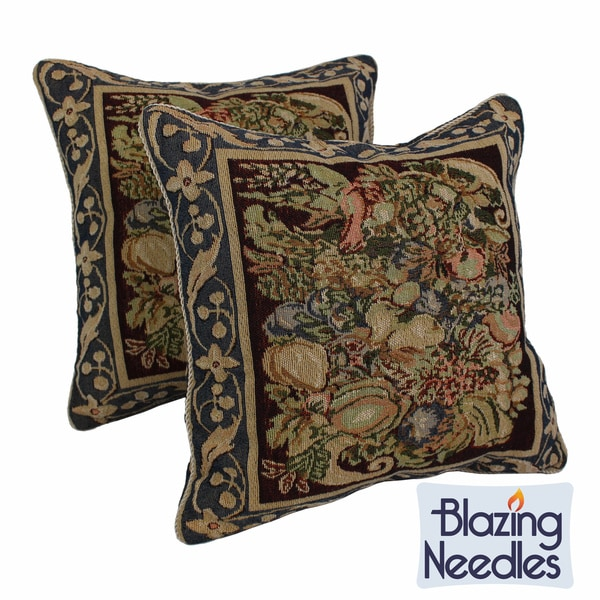 Tapestry Corded 'Potpourri' Throw Pillows (Set of 2)