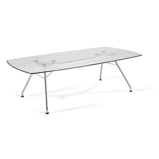 OFM Glass/ Steel Conference Table