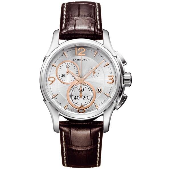 Hamilton Men's 'Jazzmaster' Chronograph Silver Dial Watch