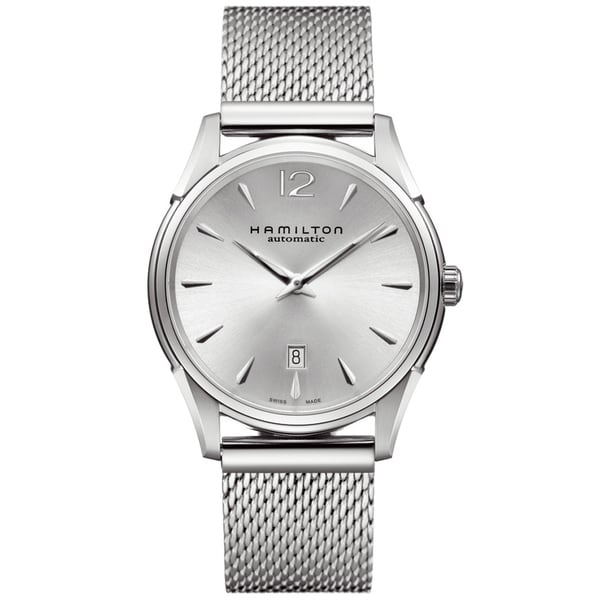 Hamilton Men's 'Jazzmaster' Silver Dial Stainless Steel Watch