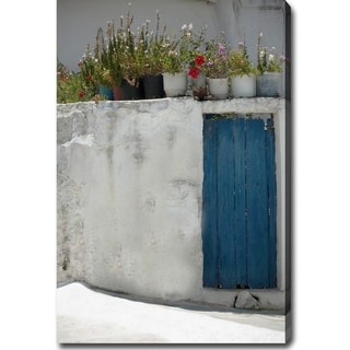 'The Blue Door, Santorini, Greece' Gallery-wrapped Canvas Art