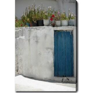 'The Blue Door, Santorini, Greece' Gallery-wrapped Canvas Art