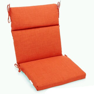 Blazing Needles 3-section Indoor/Outdoor Chair Cushion - 45 x 22 (Tangerine Dream)