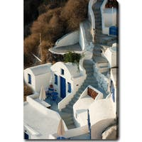 'Santorini, Greece' Gallery-wrapped Canvas Art - White
