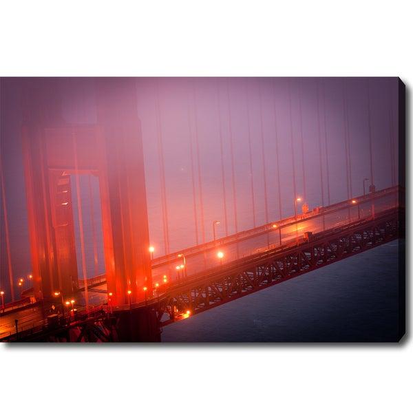 'Golden Gate Bridge in Fog' Canvas Art