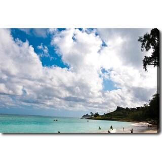 'The Blue Beach in Hawaii' Canvas Art