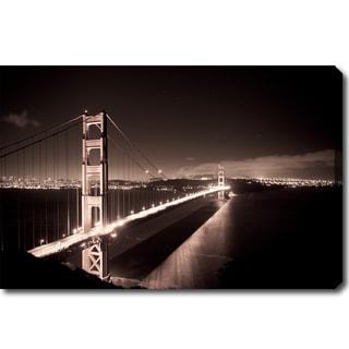 'Golden Gate Bridge at Night' Canvas Art