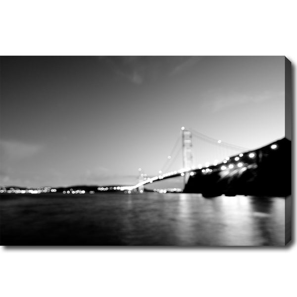 X27 Golden Gate Bridge Black And White Canvas Art