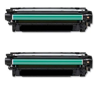 HP CE264X Remanufactured Black Toner Cartridges (Pack of 2)
