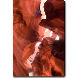 Contemporary 'The Amazing Antelope Canyon' Canvas Art