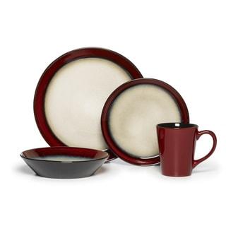 pfaltzgraff everyday aria red 16piece dinnerware set service for 4