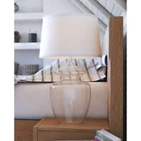 "Design Craft Baden 29"" Table Lamp - Clear Glass"