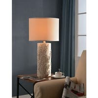 "Design Craft Rimella 30"" Table Lamp - Antique White"