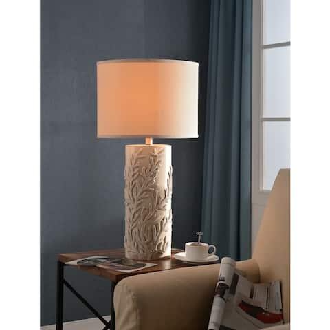 Rimella Antique White 30-inch Table Lamp