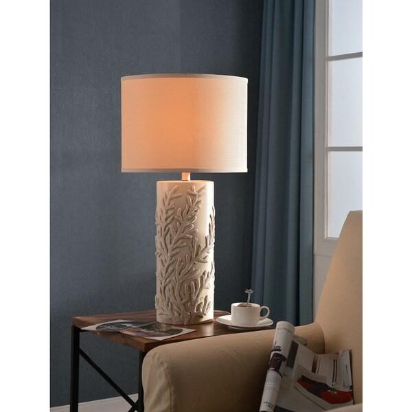 """Design Craft Rimella 30"""" Table Lamp - Antique White"""