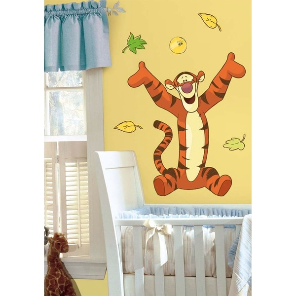 Shop Winnie the Pooh Tigger Peel & Stick Giant Wall Decal Art - Free ...