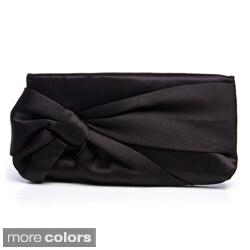 J. Furmani Women's Satin Bow Wristlet Bag