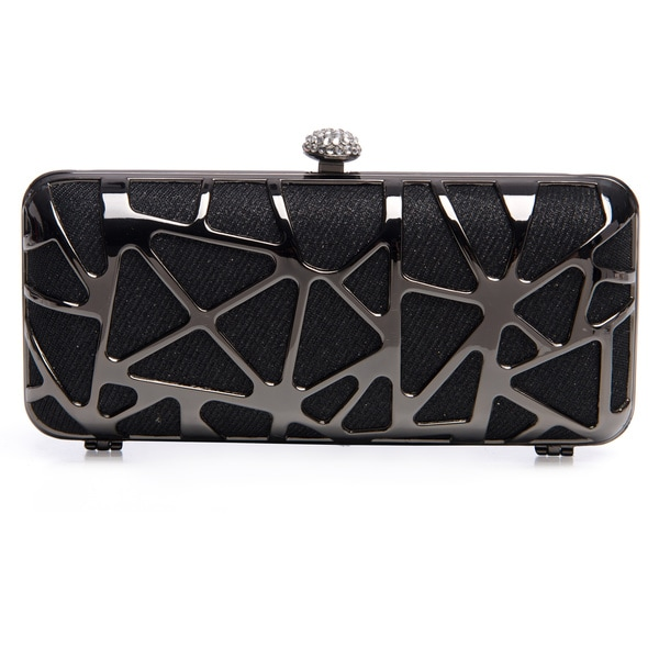 J. Furmani Women's Cut-out Hardcase Shiny Clutch