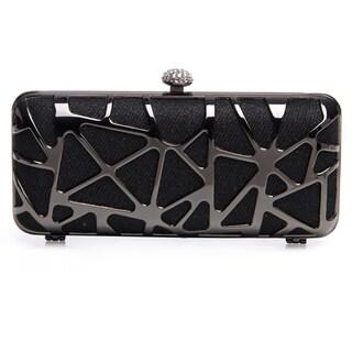J. Furmani Women's Cut-out Hardcase Shiny Clutch