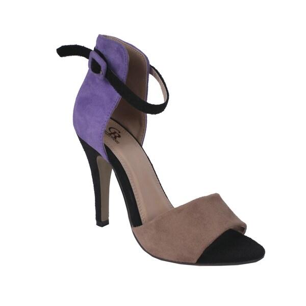 Cape Robbin by Beston Women's 'Oliva' Purple Two-tone Heel
