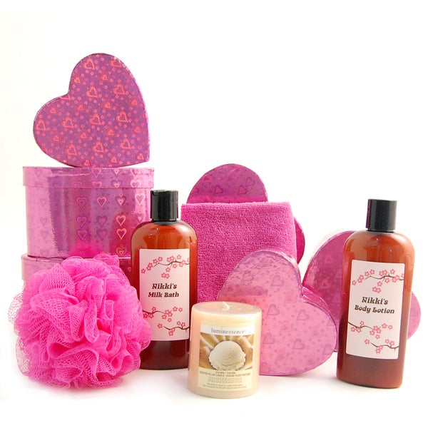 Happy Valentine's Day Spa Heart Gift Tower