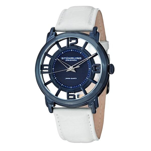 Stuhrling Original Men's Winchester Quartz Leather Strap Watch