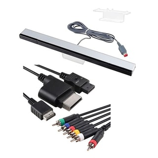 INSTEN 4-in-1 Audio Cable Adapter/ Wired Sensor Bar for Nintendo Wii