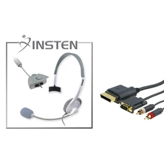 INSTEN Headset/ Audio Video Cable for Microsoft xBox 360/ 360 Slim