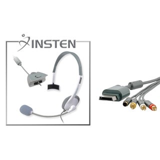 INSTEN Headset/ AV Composite Cable for Microsoft xBox 360/ 360 Slim