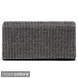 J. Furmani Women's Crystal Lined Flapover Clutch