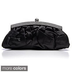 J. Furmani 'London' Pleated Satin Clutch