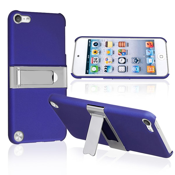 BasAcc Blue/ Chrome Stand Case for Apple iPod Touch 5th Generation