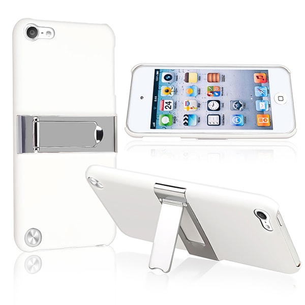 BasAcc White/ Chrome Stand Case for Apple iPod Touch 5th Generation