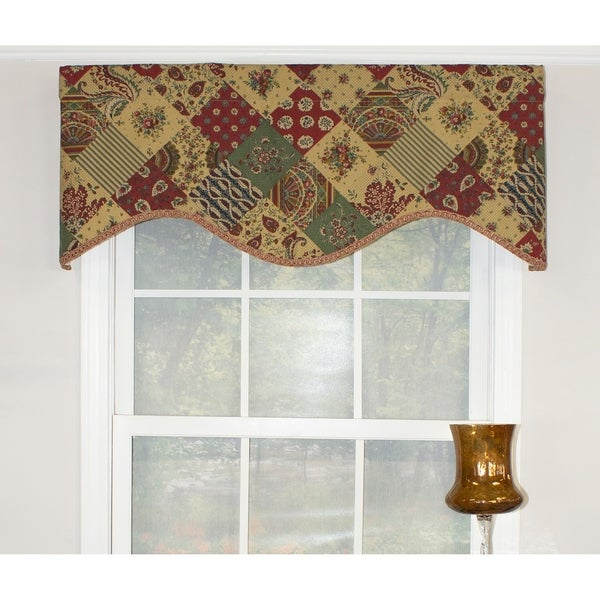 RLF Home Patchwork Cornice Window Valance - Multi