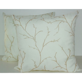 Willow Sheer Ivory Decorative Pillows (Set of 2)