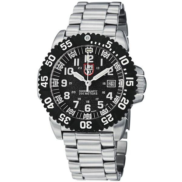 Luminox Men's A.3152 'Colormark' Black Dial Stainless Steel Quartz Watch