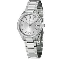 Maurice Lacroix Women's 'Miros' Silver Diamond Dial Steel Quartz Watch