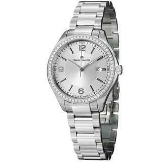 Maurice Lacroix Women's 'Miros' Silver Diamond Dial Steel Quartz Watch