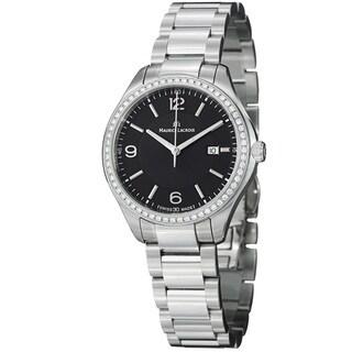 Maurice Lacriox Women's MI1014-SD502-330 'Miros' Black Diamond Dial Steel Quartz Watch https://ak1.ostkcdn.com/images/products/7654442/7654442/Maurice-Lacriox-Womens-Miros-Black-Diamond-Dial-Steel-Quartz-Watch-P15069061.jpeg?_ostk_perf_=percv&impolicy=medium