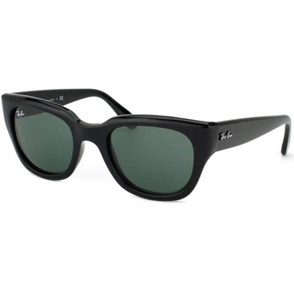 Ray-Ban Women's RB4178 Shiny Black Cat Eye Sunglasses