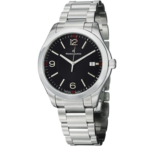 Maurice Lacroix Men's MI1018-SS002-330 'Miros' Black Dial Stainless Steel Quartz Watch
