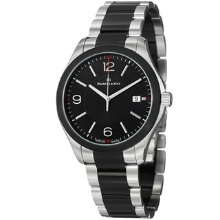 Maurice Lacroix Men's MI1018-SS002-331 'Miros' Black Dial Two Tone Steel Quartz Watch