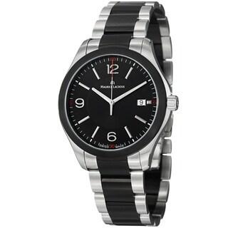 Maurice Lacroix Men's MI1018-SS002-331 'Miros' Black Dial Two Tone Steel Quartz Watch
