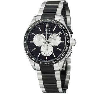 Maurice Lacroix Men's MI1028-SS002-331 'Miros' Black Dial Two Tone Steel Watch