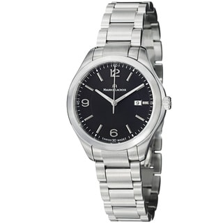 Maurice Lacroix Women's MI1014-SS002-330 'Miros' Black Dial Stainless Steel Watch
