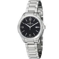 Maurice Lacroix Women's  'Miros' Black Dial Stainless Steel Watch