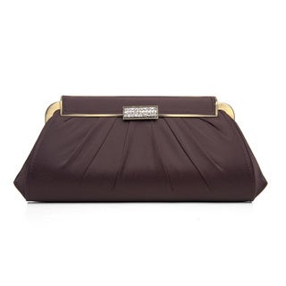 J. Furmani Women's Pleated Hinge Top Evening Bag