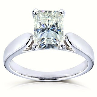 Annello by Kobelli 14k White Gold Moissanite Solitaire Ring