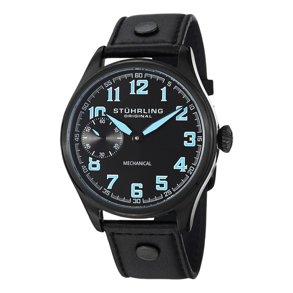 Stuhrling Original Men's Legacy Sport Mechanical Leather Strap Watch