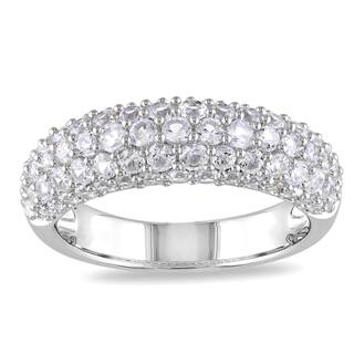 Miadora Sterling Silver Round-cut White Sapphire Ring|https://ak1.ostkcdn.com/images/products/7654515/7654515/Miadora-Sterling-Silver-White-Sapphire-Ring-P15069127.jpeg?impolicy=medium